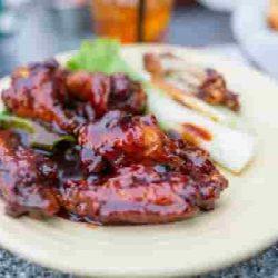 Alitas de pollo, alitas de pollo salsa barbacoa, alitas de pollo freidora sin aceite